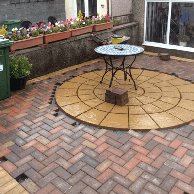 patio blockpaving wales